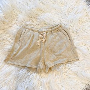 NWOT Project Social T Terry Shorts / Oatmeal / Lg